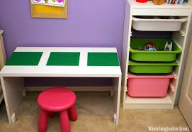 lego calm down corner for kids with an easy diy lego table