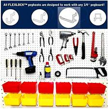 Pegboard storage bins Bin Cabinet Amazoncom Wallpeg Pegboard Accessories 10 Red Storage Bins 80 Pc All Purpose Black Peg Hook Assortment Am90r Home Improvement Amazoncom Wallpeg Pegboard Accessories 10 Red Storage Bins 80