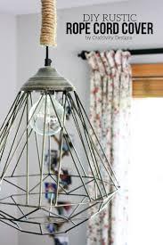 10 diy rustic lights using rope diy rope cord cover by craftivtyd