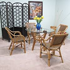 rattan dining room set. safi rattan dining furniture 5pc set [4-chairs and 1-table w/ room p
