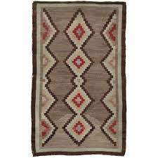antique navajo rug handmade wool oriental rug beige and brown for