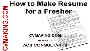 How To Make Cv Resume Of A Fresher Youtube Write For Teacher