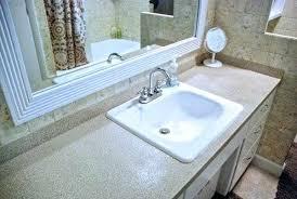 granite sprayed counters spray paint bathroom countertop diy how to