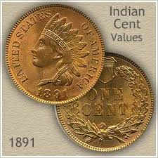 Uncirculated 1891 Indian Head Penny Antique Alley Research