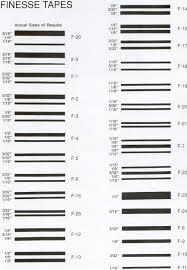 3m Striping Tape Chart 2019