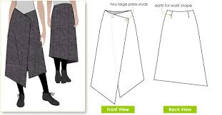 Wrap Skirt Pattern Interesting Annetta Skirt Style Arc