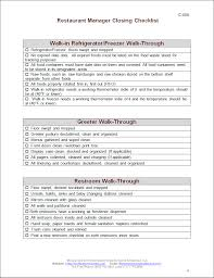 closing manager checklist workplace wizards restaurant consulting