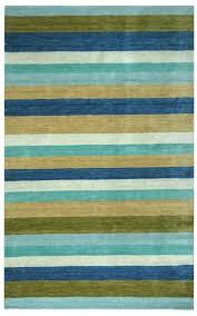platoon new zealand wool area rug 8 x 10 aqua blue olive green tan white stripe