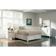white beach bedroom furniture. coaster 5 pc sandy beach white wood finish queen sleigh bed with footboard storage bedroom furniture