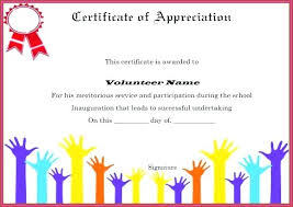 Volunteer Of The Month Certificate Template Thank You Certificates