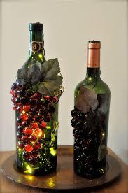 Making Wine Bottle Lights Handmade Grape Wine Bottle Nightlights Wine Bottle Crafts
