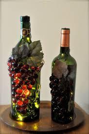 Making Wine Bottle Lights Handmade Grape Wine Bottle Nightlights Wine Bottle Crafts