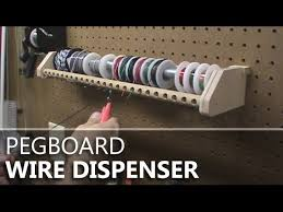 pegboard mounted wire dispenser
