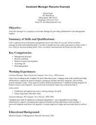 Assistant Manager Sample Resume Sample Resume Assistant Manager