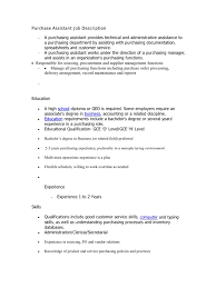 Purchasing Assistant Job Description Download Job Description For Assistant Executive Housekeeper 23