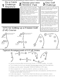 Frisbee Games Lesson Handout Plus Tips For Frisbee Golf Course