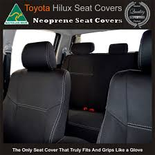 full back front rear seat covers fit toyota hilux waterproof neoprene premium