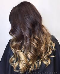 Brown Hair With Golden Blonde Ombre