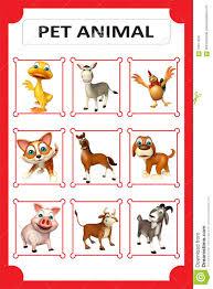 Pet Animal Chart Stock Illustration Illustration Of Cartoon