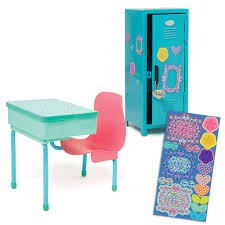 school desk. School Desk And Locker Set Includes Blue Metal With Heart-shaped Lock,