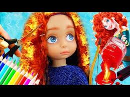 disney merida princess baby doll makeup kids pretend play dress up kids make up toys toys
