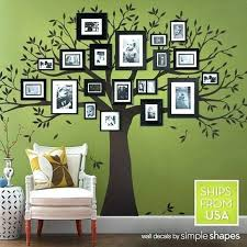 family frames for wall wall tree picture frame wall decal family tree decal photo frame tree