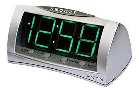Acctim Astral Stylish Jumbo Green LED USB Smart Connector Alarm Clock