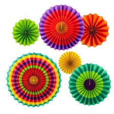 diy handcraft paper fan stripe dot round wheel disc party wall decor kindergarten kids birthday toys on in party diy decorations from home garden on