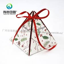 diy candy box wedding triangle ribbon paper printing packaging box