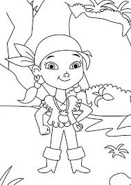 jake and the neverland pirates coloring pages izzy