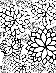 Flower Coloring Pages For Adults Fancy Free Printable Flower