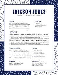 Navy Blue White Macaroni Shapes Fun Creative Resume