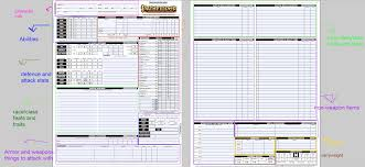 character sheet pathfinder pathfinder automated character sheet