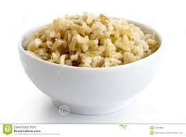 cooked brown rice in a bowl. Perfect Cooked Bowl Of Cooked Long Grain Brown Rice Intended Cooked Brown Rice In A G