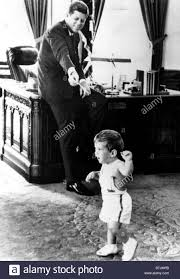kennedy oval office. John F. Kennedy And Son Jr., In Oval Office, 5/25/62 Office I
