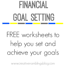 Setting Financial Goals with Free Printable Worksheets - Creative ...