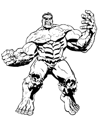 hulk coloring pages 2