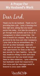 Prayer Of The Day My Husband S Job