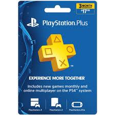Sony Playstation Plus 3 Month 17 99 Walmart Com