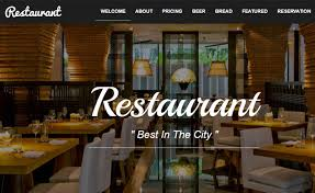 Restaurant Website Templates Cool Bootstrap Food Restaurant Website Template Free Download In 48