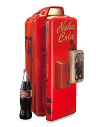 Nuka Cola Vending Machine For Sale Mesmerizing Fallout Nuka Cola Machine Mini Refrigerator ThinkGeek