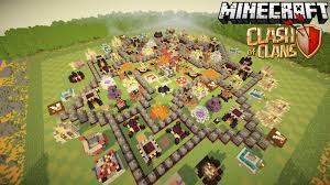 clash of clans in minecraft awesome maxed th map  youtube