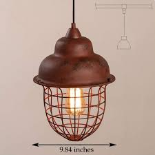 vintage lighting pendants. Kiven H-type 3 Wire Vintage Rusty Track Light Pendants Length 4.9 Ft Restaurant Chandelier Deco Instant Pendant Fixture ,Bulb Not Include,Retro Lighting