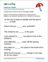 Spelling And Vocabulary Worksheets Worksheets for all | Download ...