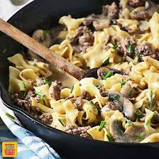 ground beef recipes. Plain Beef Ground Beef Stroganoff Skillet Recipe For Recipes