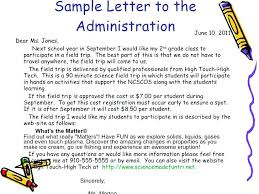 Sample Letter Classroom Management To Parents Plan Elementary