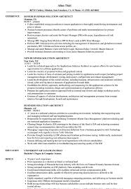 Architecture Resume Examples Business Solution Architect Resume Samples Velvet Jobs 73