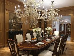 chandeliers to decorate dining area