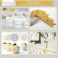 50th Anniversary Cupcake Decorations Wedding World 50th Wedding Anniversary Decorations