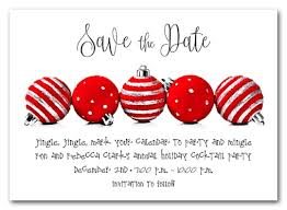 Red Save The Date Cards Red Ornaments Holiday Save The Date